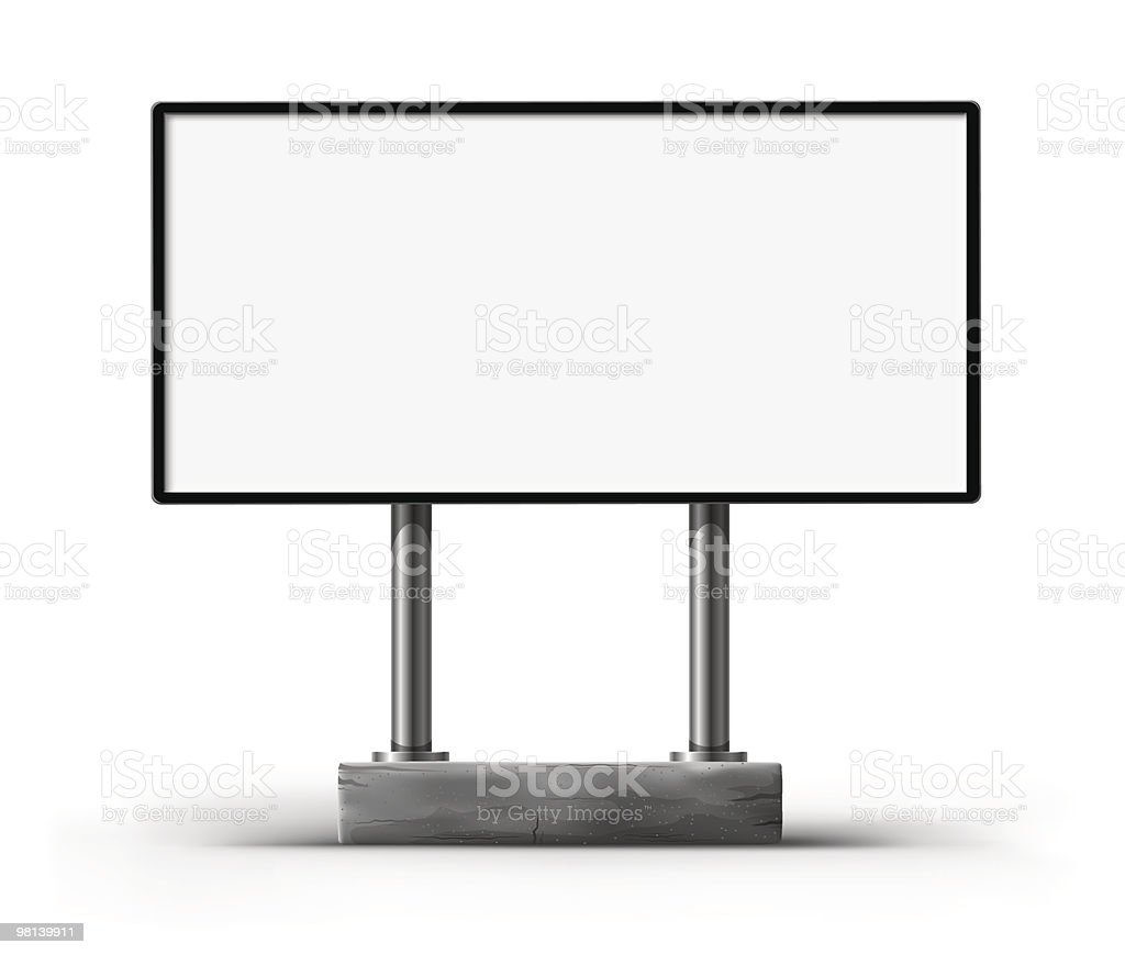 blank billboard for advertising royalty-free blank billboard for advertising stock vector art & more images of advertisement