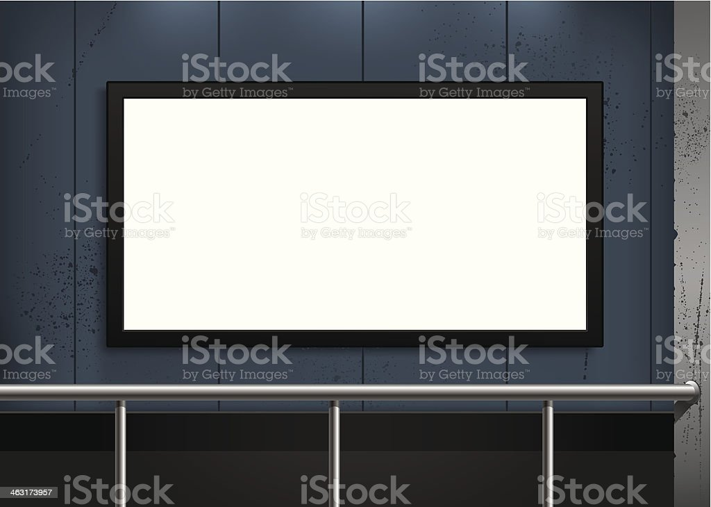 blank billboard vector art illustration
