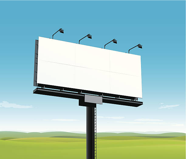 Panneau d'affichage vide - Illustration vectorielle