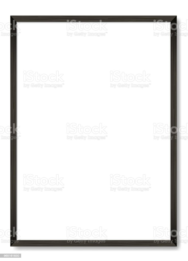 Blank black wooden frame A4. Vector template royalty-free blank black wooden frame a4 vector template stock illustration - download image now