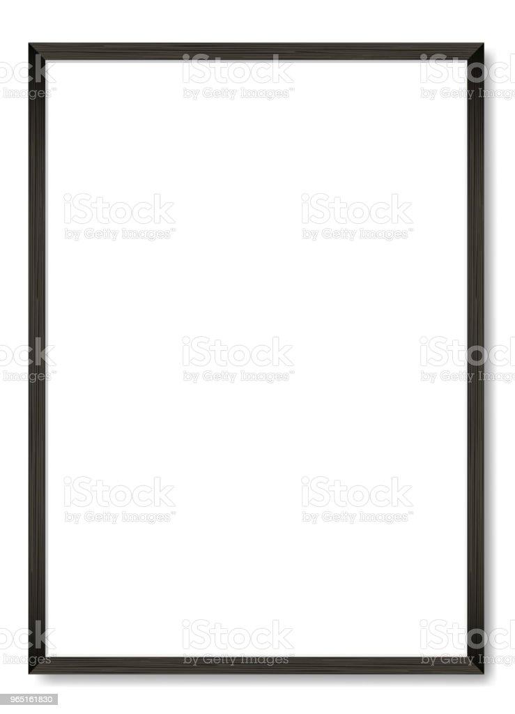 Blank black wooden frame A4. Vector template blank black wooden frame a4 vector template - stockowe grafiki wektorowe i więcej obrazów biały royalty-free