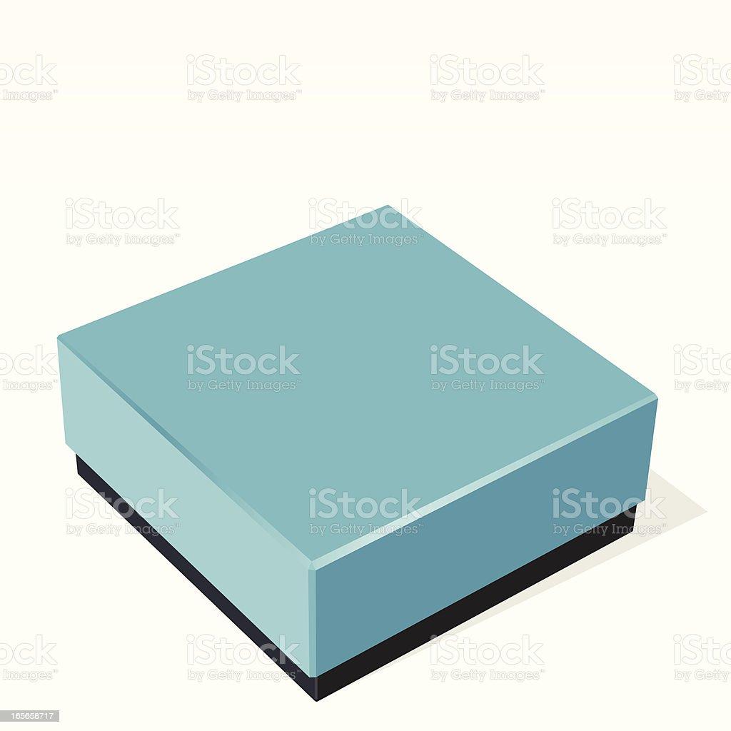 Blank blue box royalty-free stock vector art