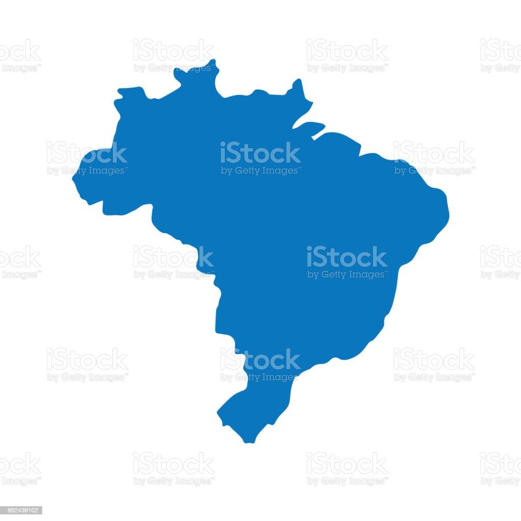 Carte Muette Bresil.Carte Bleue Muette De Bresil Semblable Avec La Capitale Brasilia