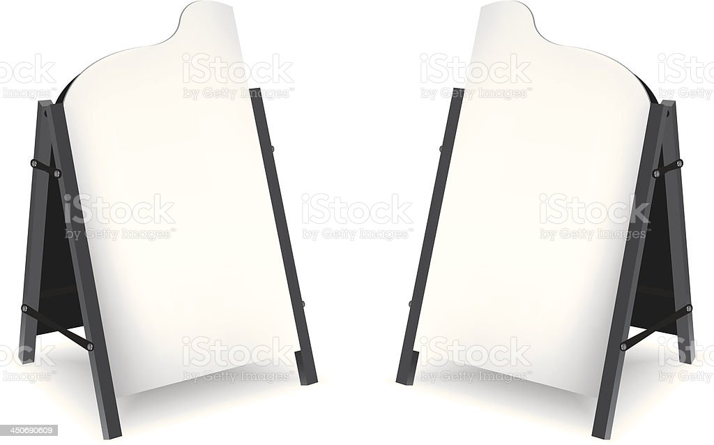 Blank board isolated on white background royalty-free stock vector art