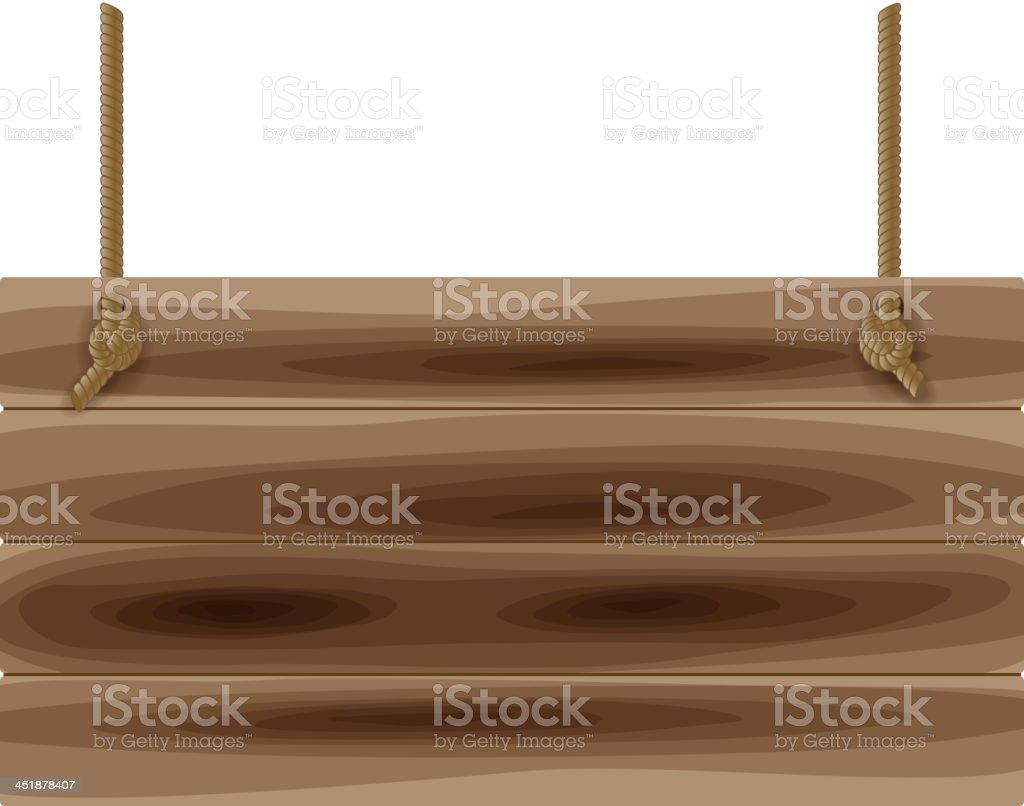 Blank board vector art illustration