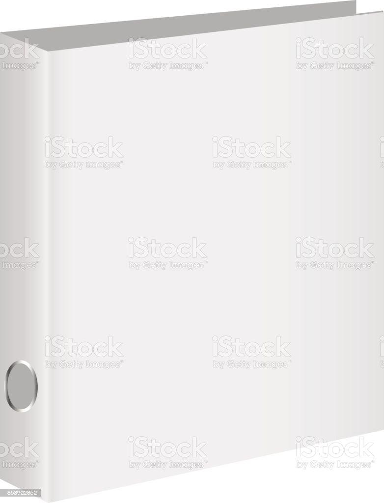 Blank book cover, binder or folder templates. Vector illustration vector art illustration