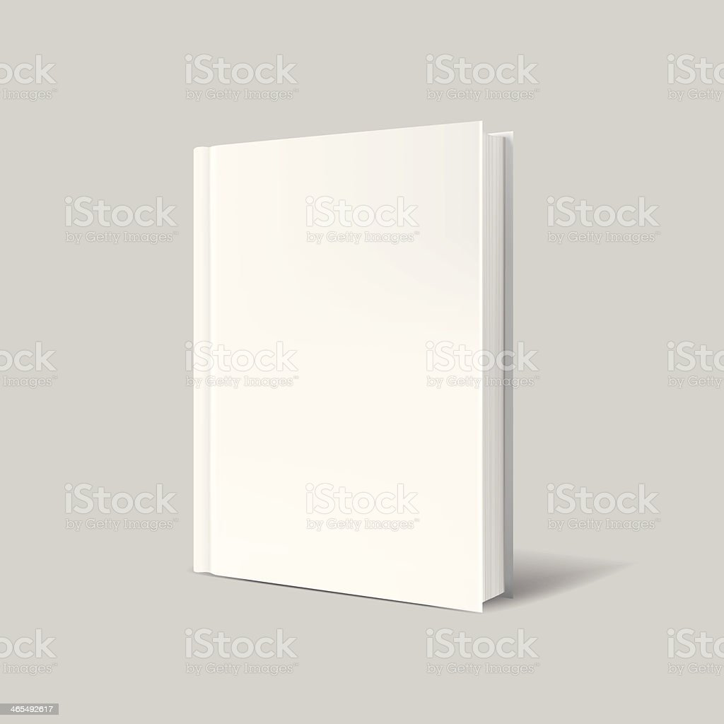 Blank book cover over gray background vector art illustration