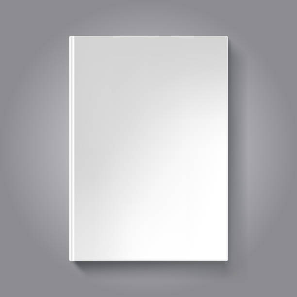Blank Book Cover Vector Template : Blank book cover clip art vector images illustrations