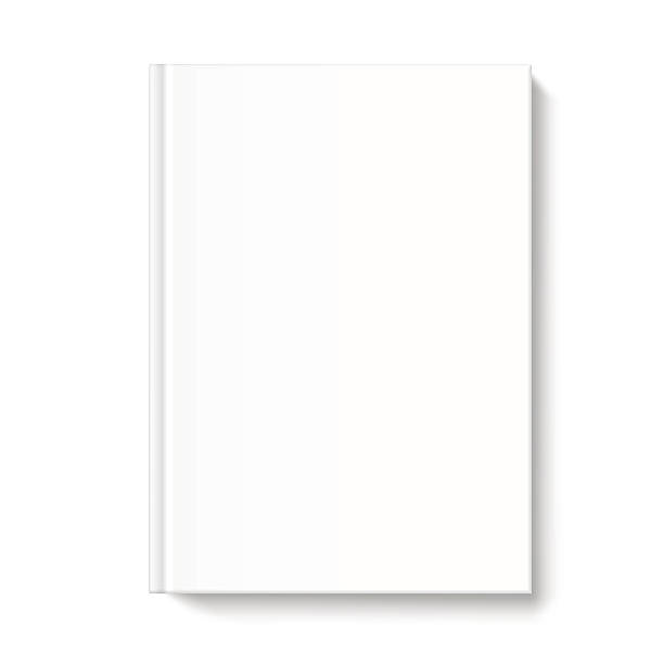 Blank book cover template on white background Mock up book cover on white background. Vector template for your design. hardcover book stock illustrations