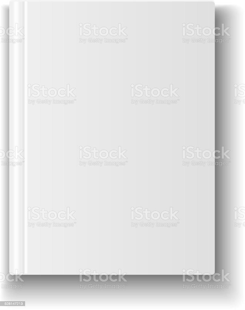 Leeren Buch Cover Vorlage Auf Weißem Hintergrund Und Mit Weichen ...