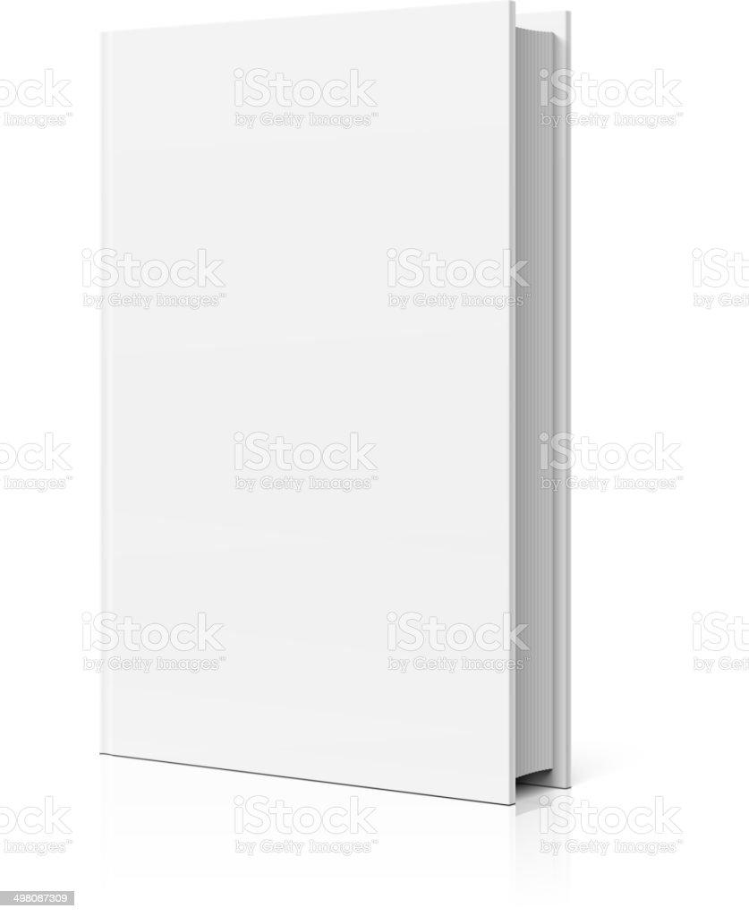 Blank book cover vector art illustration
