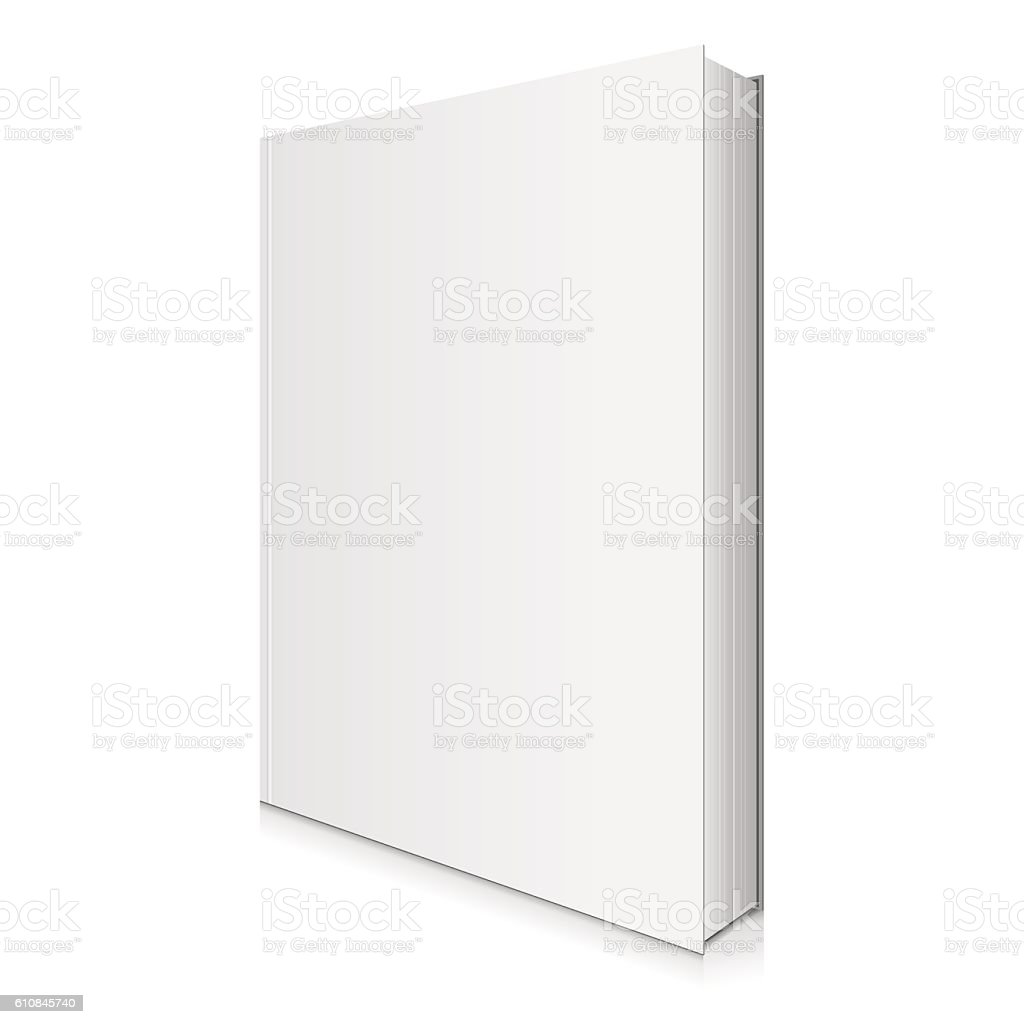Blank Book Cover Vector Illustration. vector art illustration
