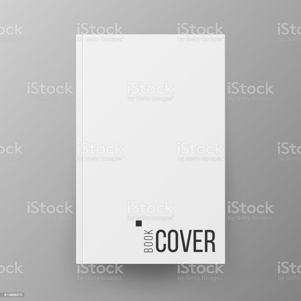 Blank Book Cover Vector Illustration Free : Blank book cover white vector realistic illustration