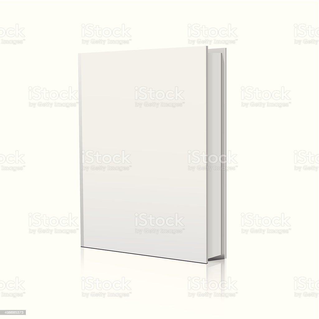 Blank book over white background vector art illustration