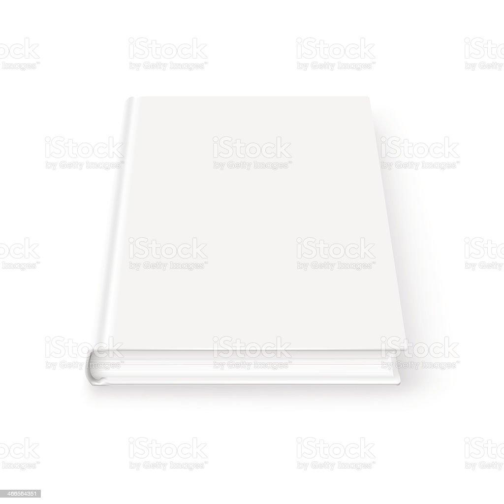 Blank book template. vector art illustration