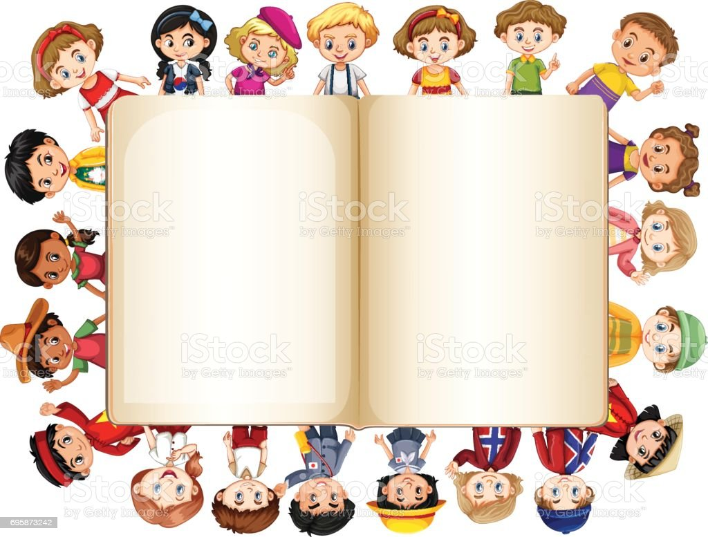 695873242 for Blank book template for kids