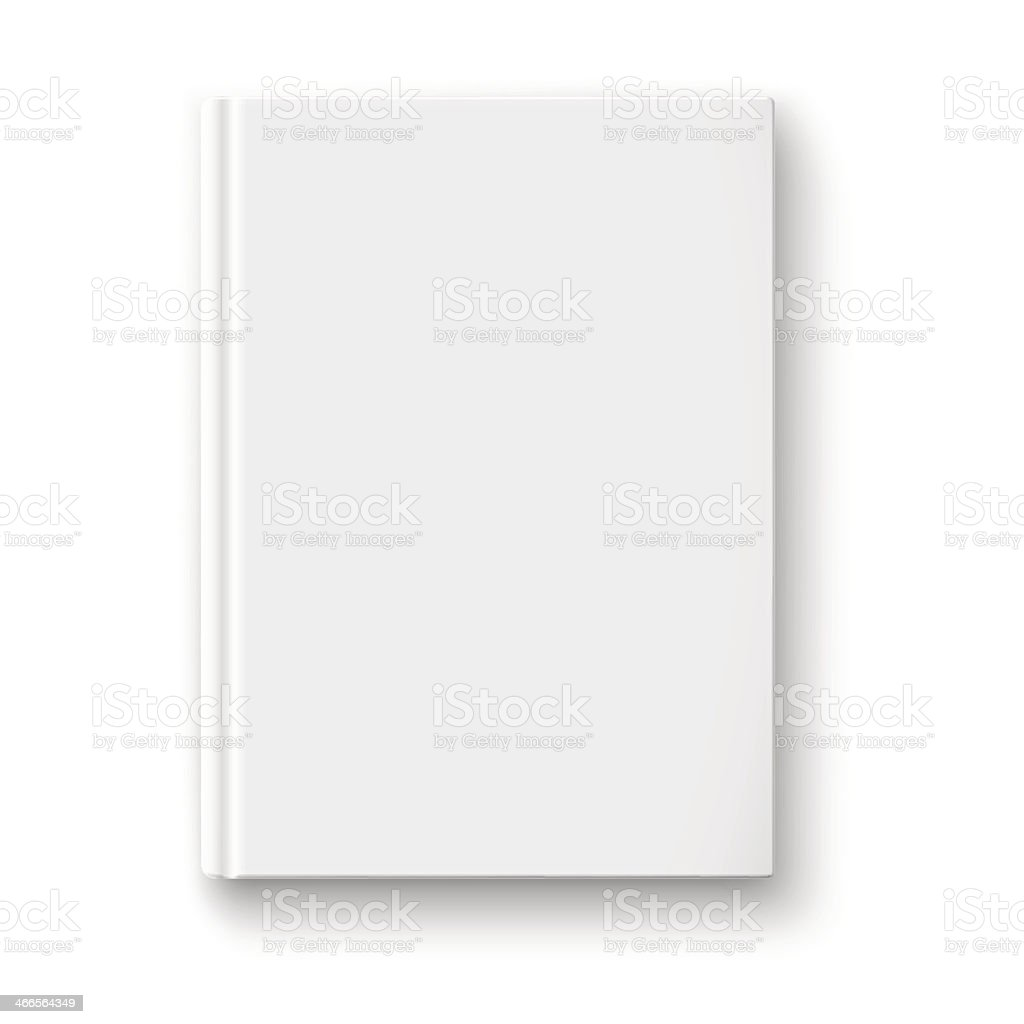 Blank book template with soft shadows. vector art illustration