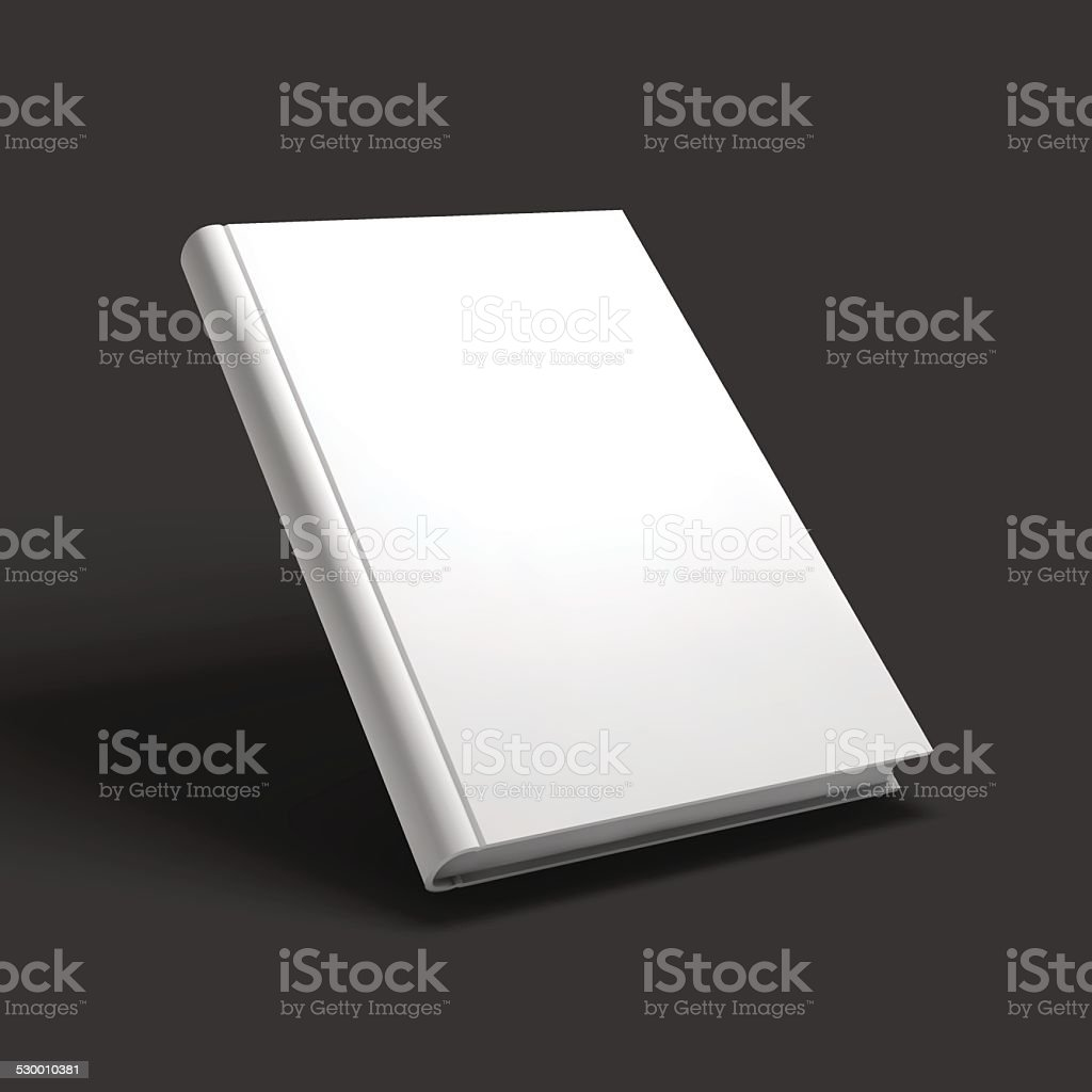 Blank book, textbook, booklet or notebook mockup. vector art illustration