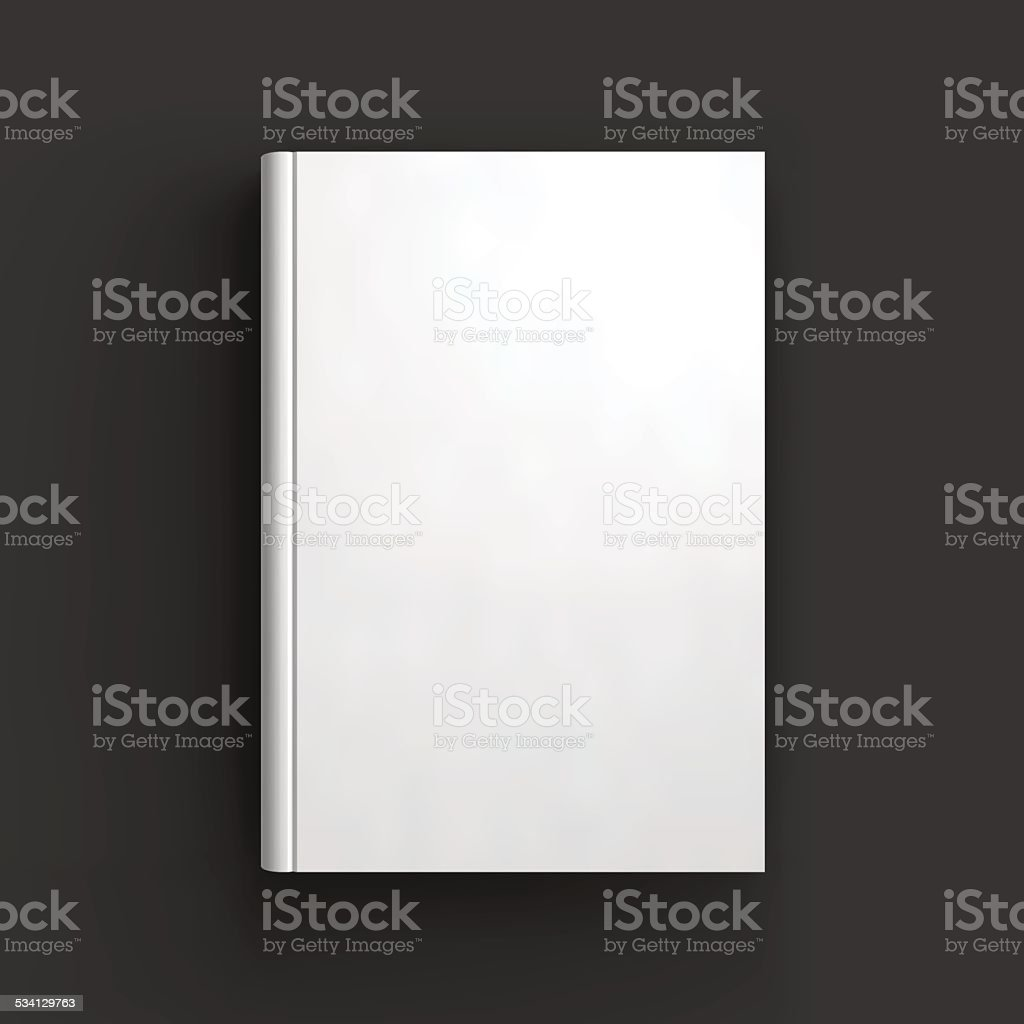 Blank book, textbook, booklet or notebook mockup vector art illustration