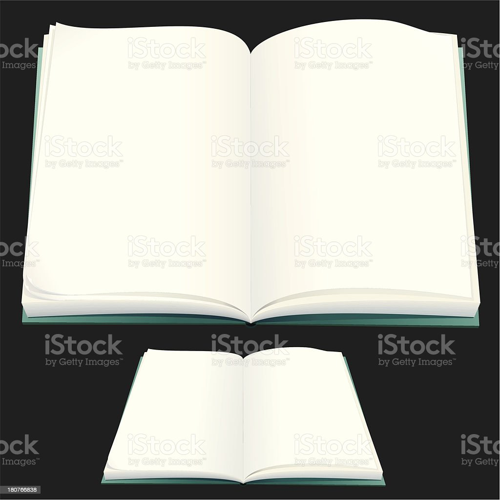 Blank Book royalty-free stock vector art