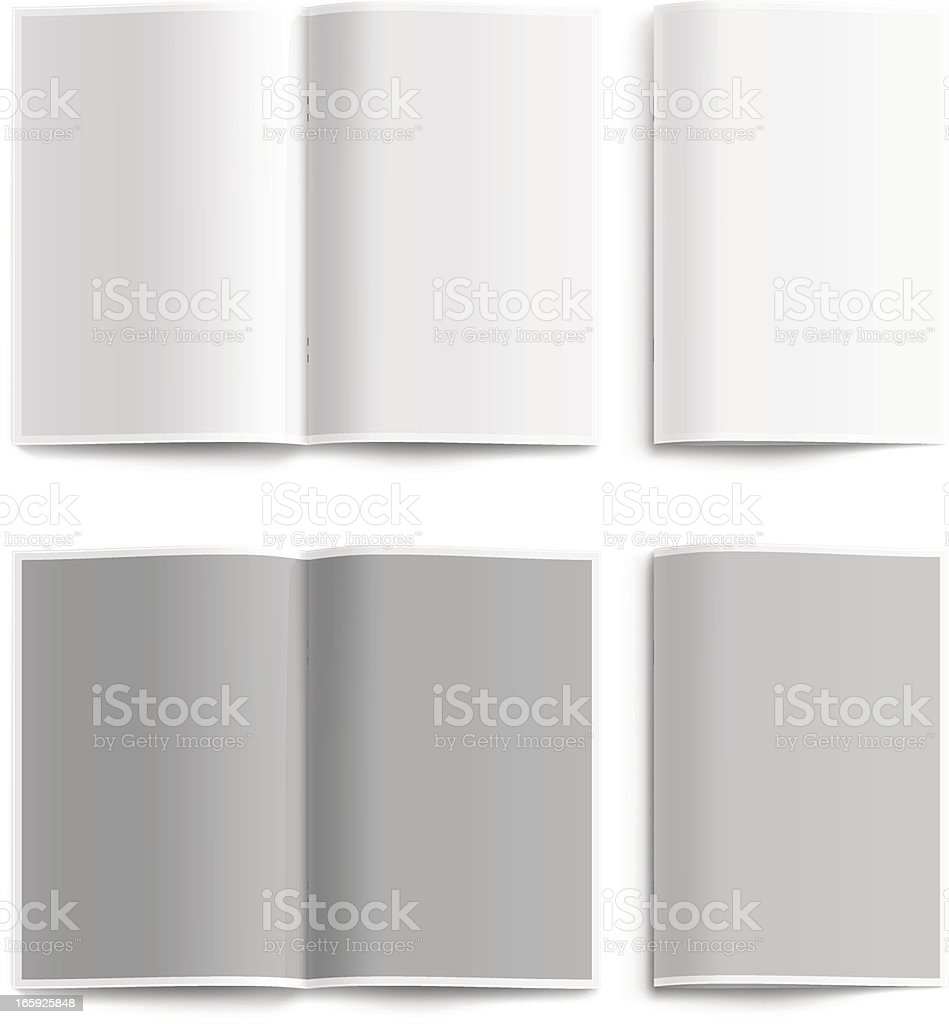 Blank Booklet vector art illustration