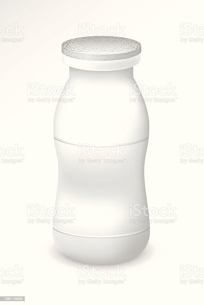 Blank bottle of yogurt royalty-free stock vector art
