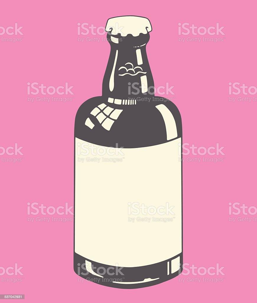 Blank Bottle vector art illustration