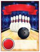 A blank bowling flyer template great for birthday parties, bowling leagues and tournaments. Layered vector EPS 10 available.