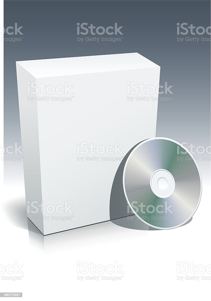 Blank box and disc royalty-free blank box and disc stock vector art & more images of blank