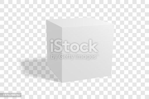 istock Blank box mockup 1320766257