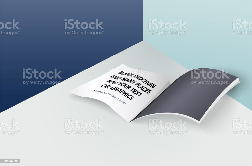 Blank brochure and many places for your text and graphics blank brochure and many places for your text and graphics - stockowe grafiki wektorowe i więcej obrazów biały royalty-free