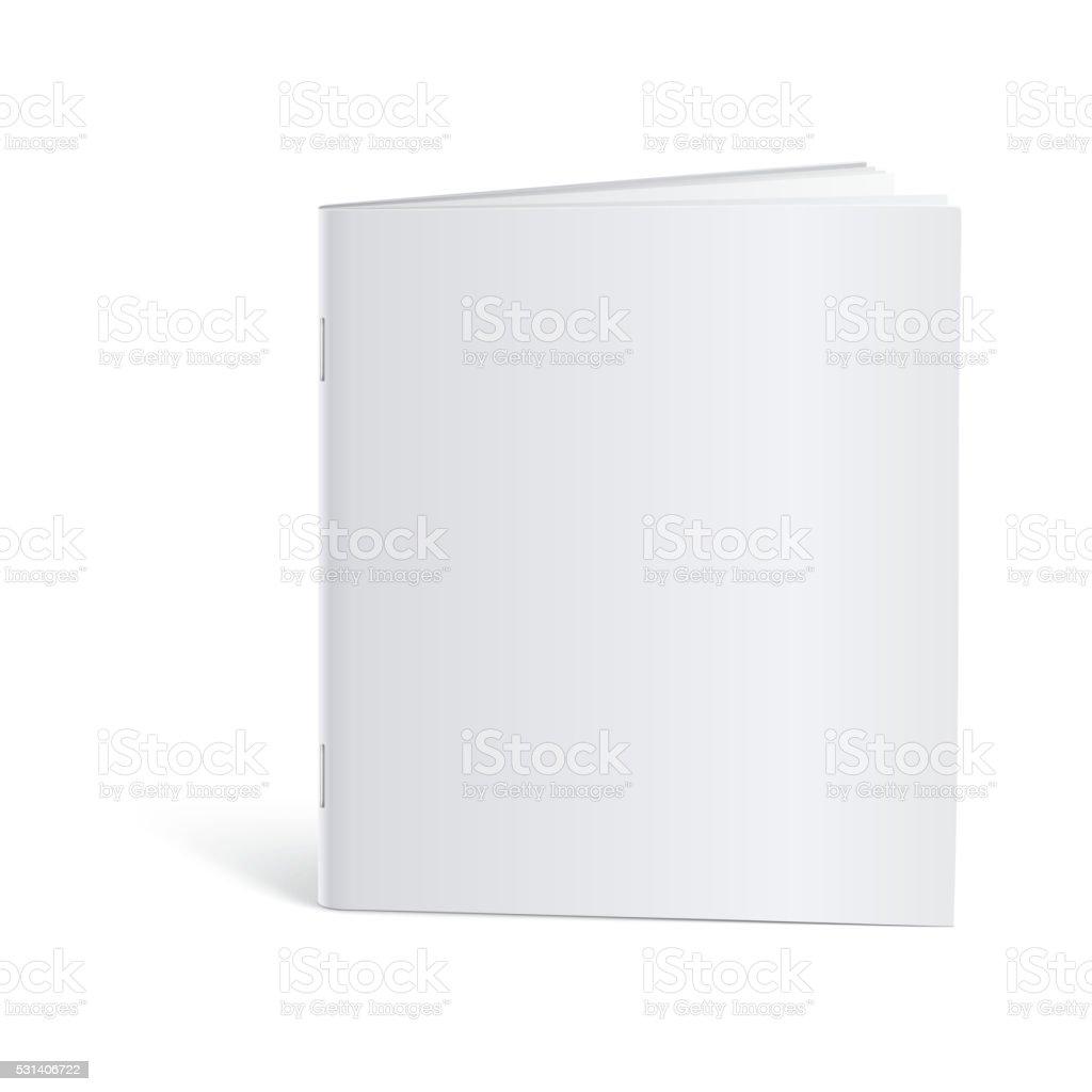 Blank Brochure template mock-up vector art illustration