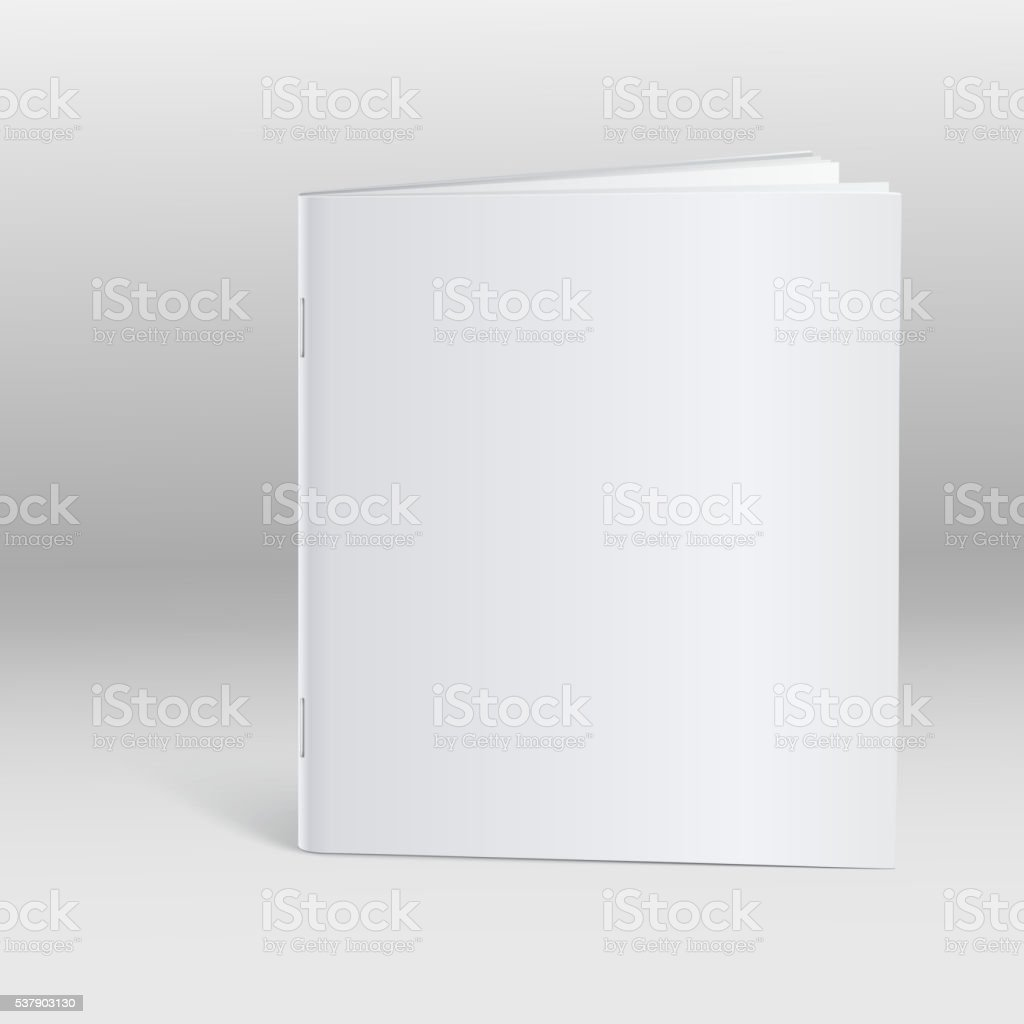 Blank Brochure Template Mockup Stock Vector Art IStock - Blank brochure template