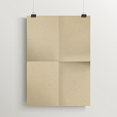 blank brown poster template