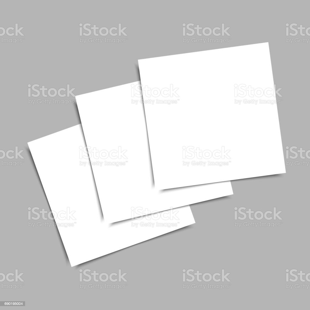 Blank Business Card Template | Blank Business Card On Grey Background Vector Template Stock Vektor