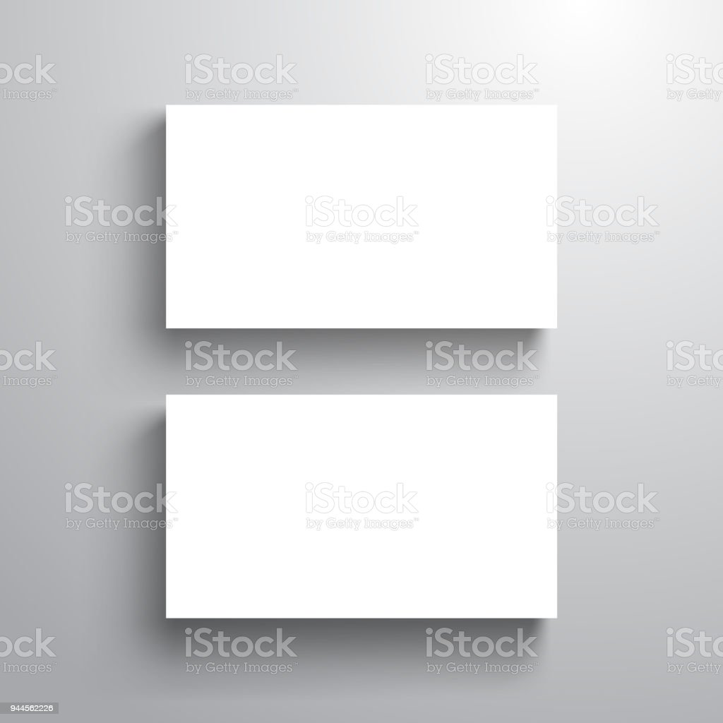 Blank business card template mock up for name card vector blank business card template mock up for name card vector illustration royalty free reheart Images