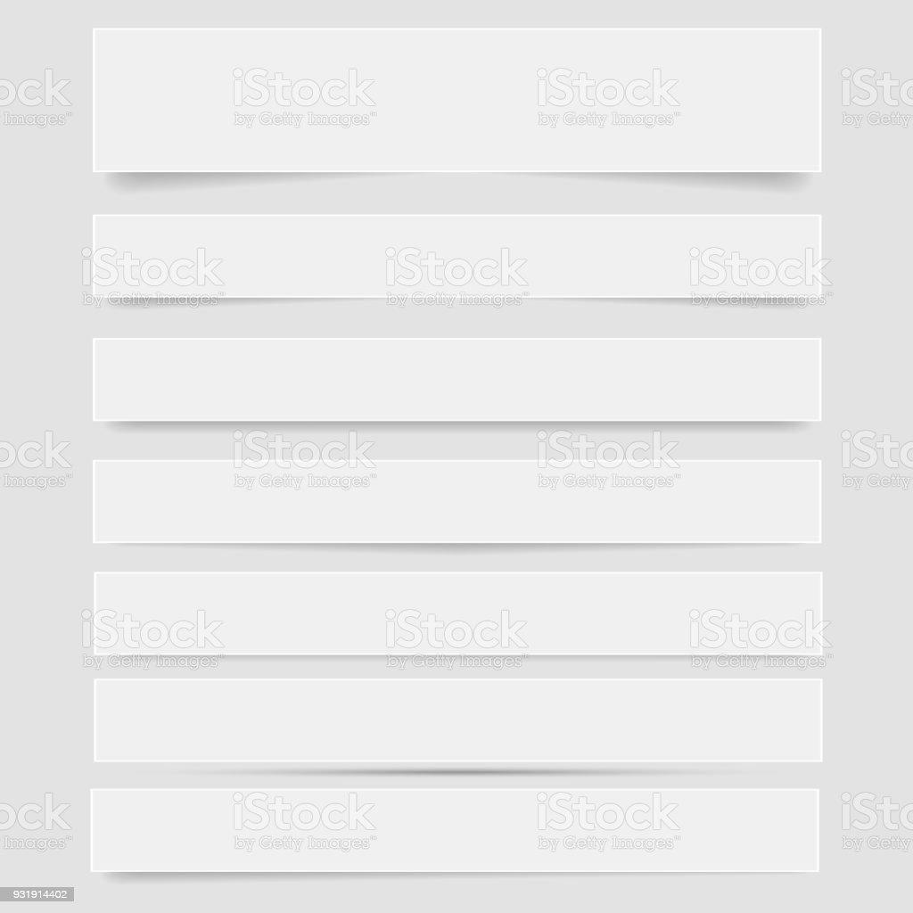Conjunto De Tarjetas En Blanco Ilustración Del Vector Para Su Diseño ...