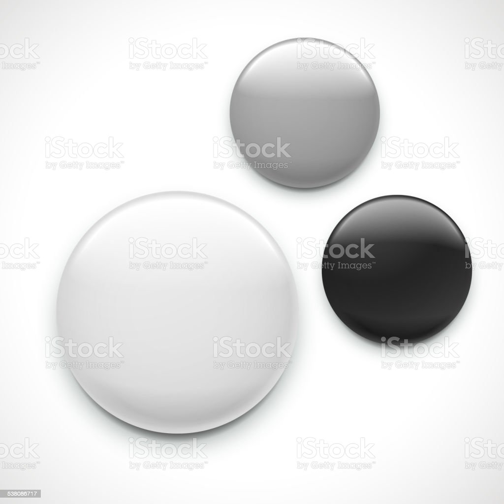 blank button badge template vector art illustration