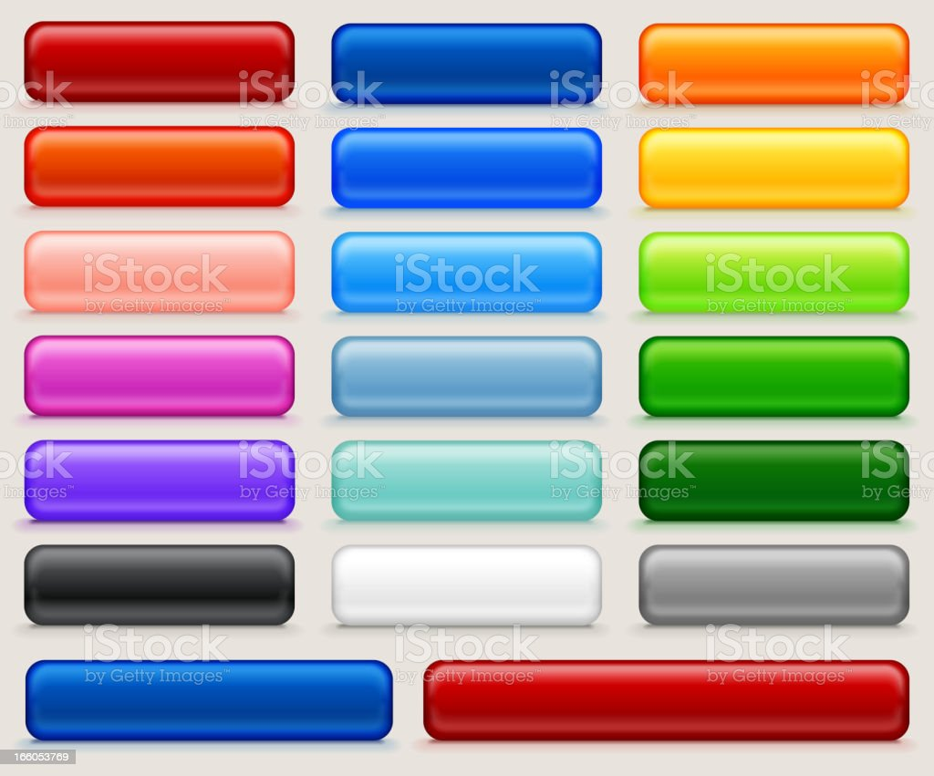Blank Buttons Full Color Set royalty-free stock vector art