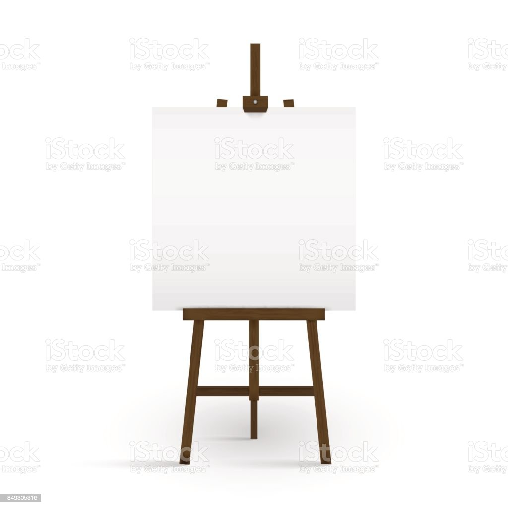 royalty free background of a canvas on easel clip art vector images rh istockphoto com  art easel clipart