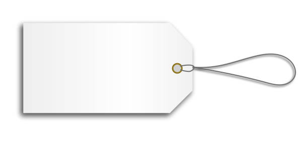 blank cardboard price tag lable with string blank cardboard price tag lable with string labeling stock illustrations