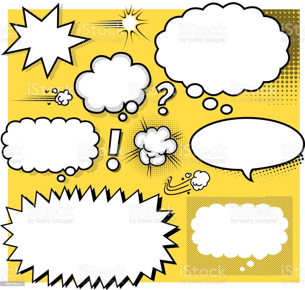 blank cartoon speech bubbles royalty-free blank cartoon speech bubbles stock vector art & more images of activity