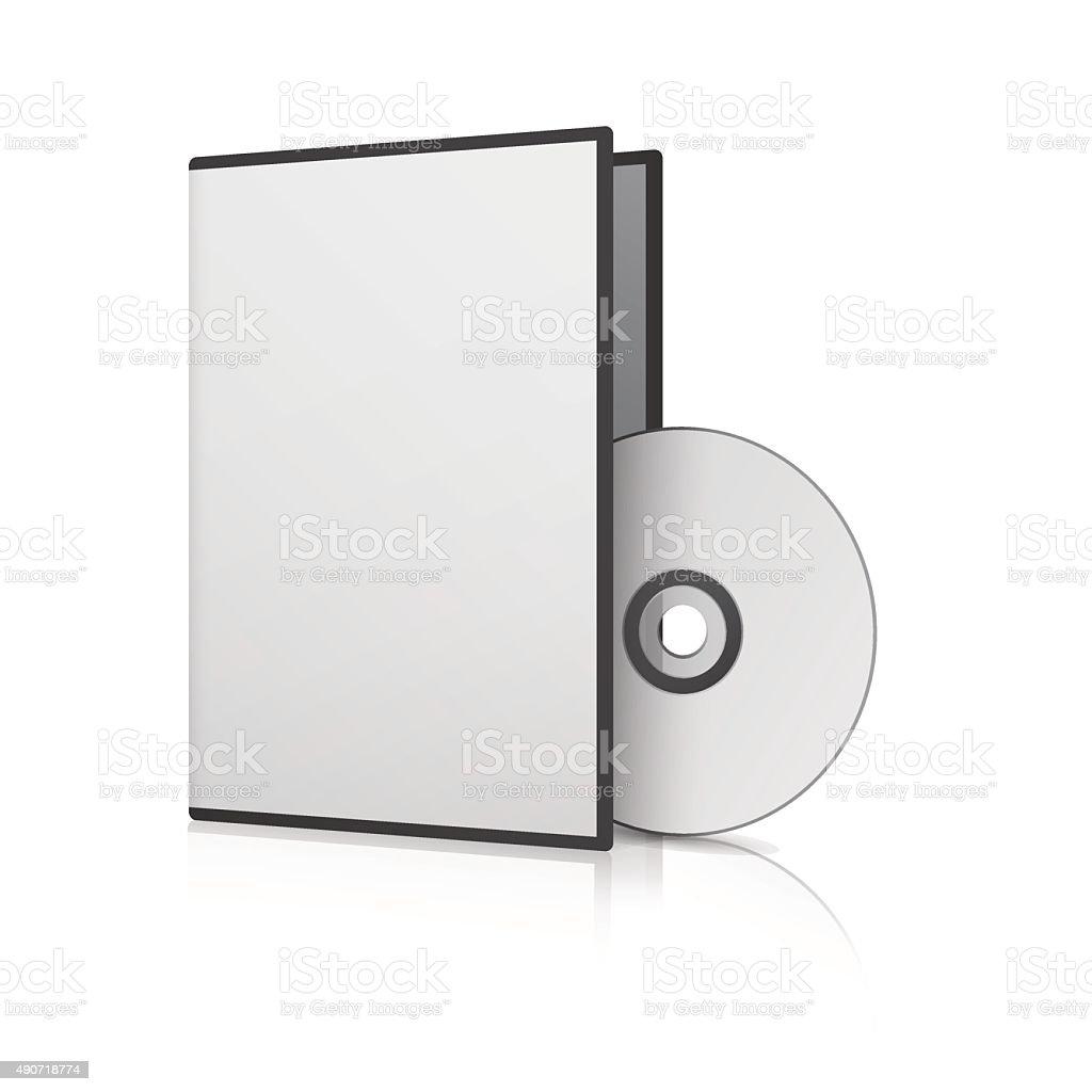 Blank Case and Disk. Vector Illustration vector art illustration