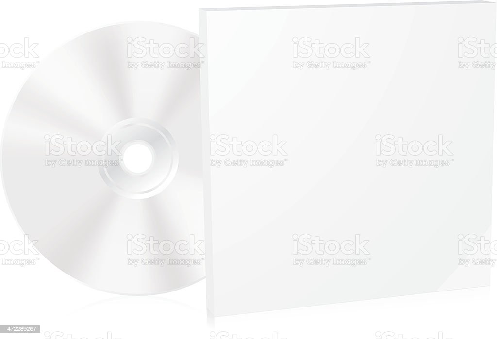 Blank CD box vector art illustration