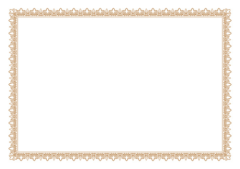 Blank Certificate border, ready add text, in gold color