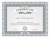 Blank certificate template and element