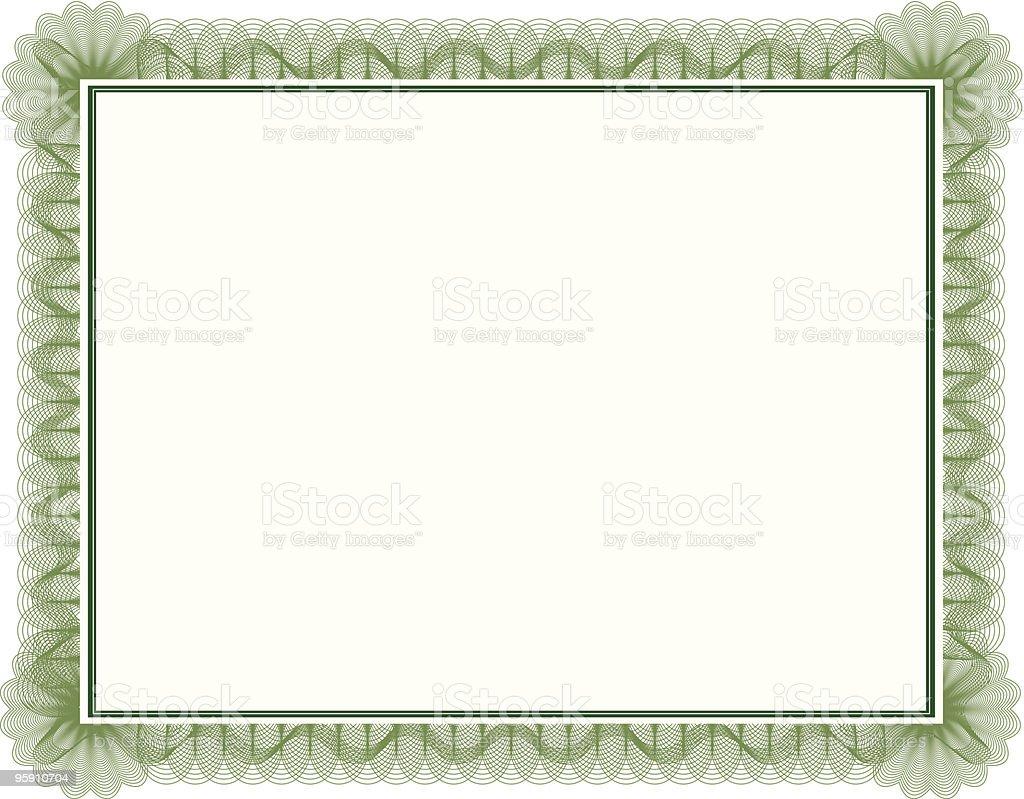 Blank certificate vector art illustration