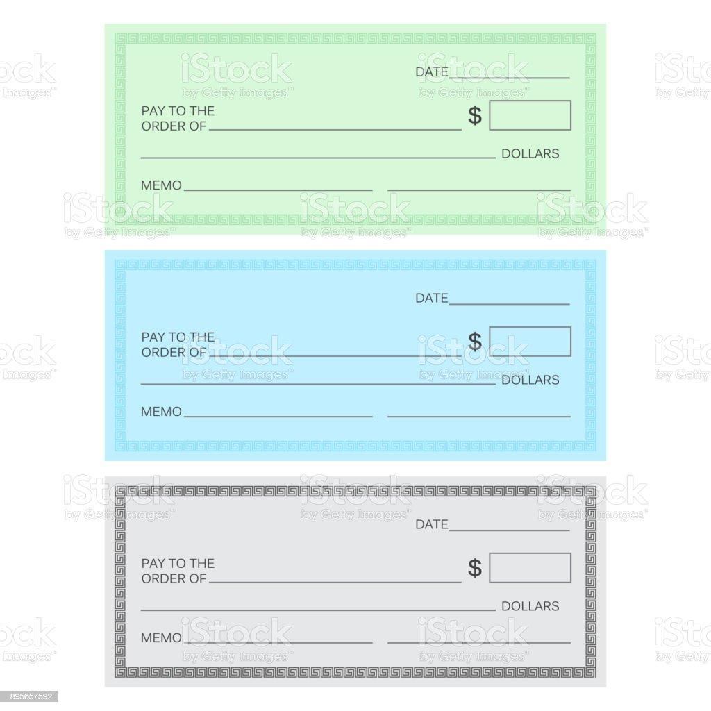 Blankoscheckvorlage Aktivieren Sie Vektor Vorlage Bankencheckvorlage