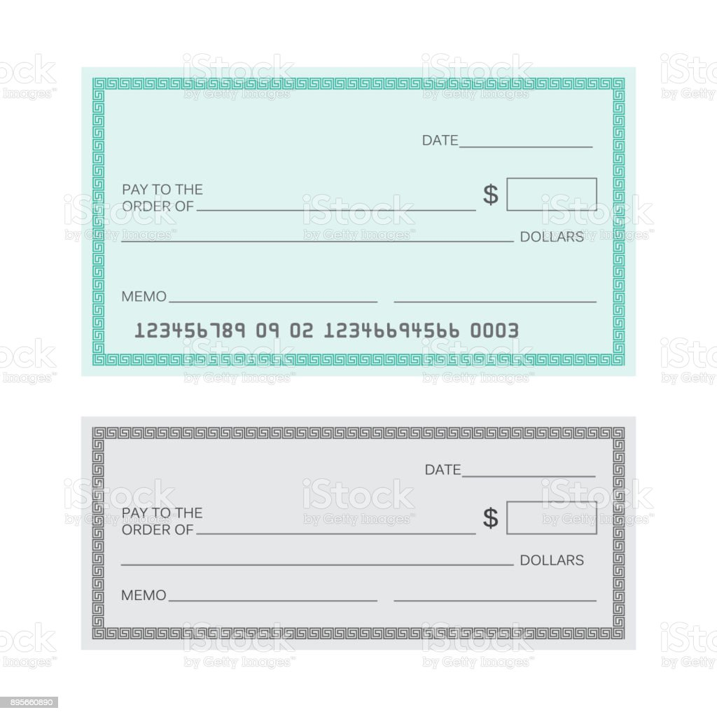 Blank Check Template Vector Banking Royalty Free