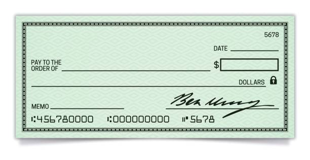 blank check - bank stock illustrations